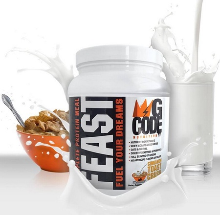 G Code Nutrition FEAST Complete Protein Meal - Cinnamon Toast Crush - 20 Servings