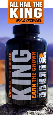 GCode Nutrition KING - Natural Test Booster - 180 Cap