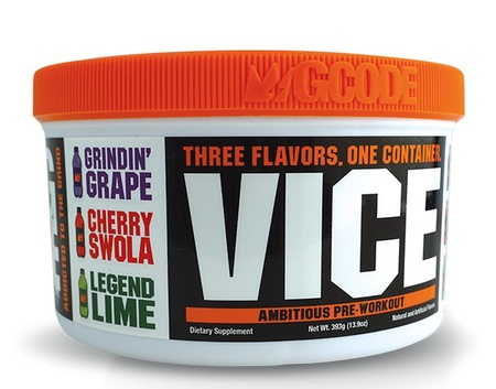 GCode Nutrition VICE Preworkout TriChamber (3-in-1) Cherry, Lime & Grape - 45 Servings