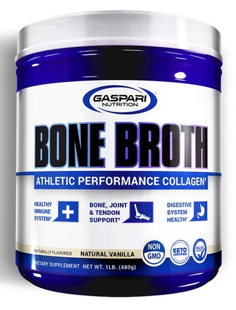 Gaspari Nutrition Bone Broth Athletic Performance Collagen Vanilla - 30 Servings