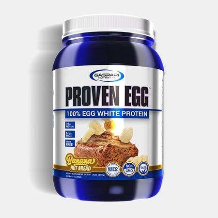 Gaspari Nutrition Gaspari Proven EGG 100% Egg White Protein Banana Nut Bread - 2 Lb
