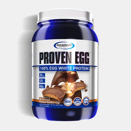 Gaspari Nutrition Proven EGG 100% Egg White Protein Richie's Peanut Butter Cup - 2 Lb