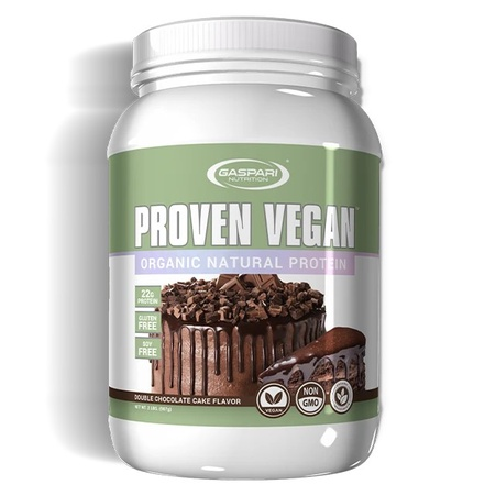 Gaspari Proven Vegan Double Chocolate Cake - 2 Lb