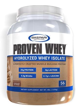 Gaspari Nutrition Proven Whey 100% Hydrolyzed Whey Isolate Chocolate - 4 Lb