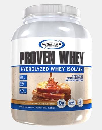 Gaspari Nutrition Proven Whey 100% Hydrolyzed Whey Isolate Cinnamon French Toast - 4 Lb