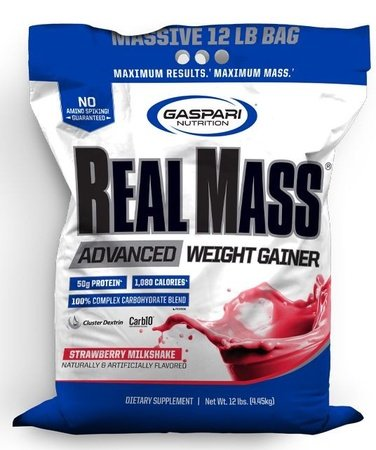 Gaspari Nutrition Real Mass Advanced Weight Gainer Strawberry - 12 Lb
