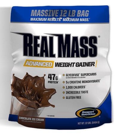 Gaspari Nutrition Real Mass Advanced Weight Gainer Chocolate - 12 Lb