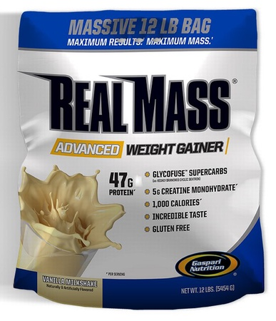 Gaspari Nutrition Real Mass Advanced Weight Gainer Vanilla - 12 Lb