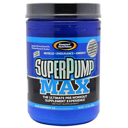 Gaspari Nutrition SuperPump Max Blue Raspberry - 40 Servings
