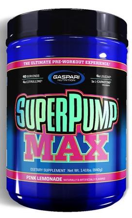 Gaspari Nutrition SuperPump Max Pink Lemonade - 40 Servings