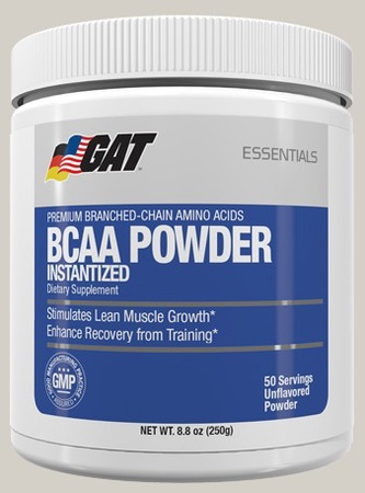 GAT BCAA Powder Unflavored - 50 Servings