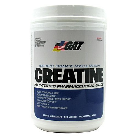 GAT Creatine Monohydrate Powder - 1000 Grams