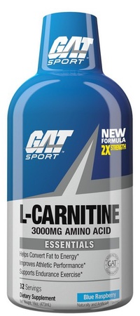 GAT Liquid L-Carnitine 3000 Blue Raspberry - 32 Servings