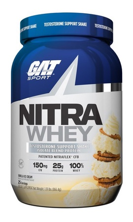 GAT Nitra Whey Protein Isolate Blend Vanilla Ice Cream - 25 Servings
