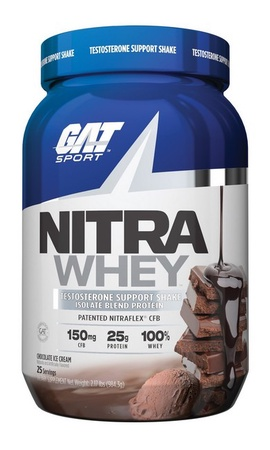 GAT Nitra Whey Protein Isolate Blend Chocolate Ice Cream - 25 Servings
