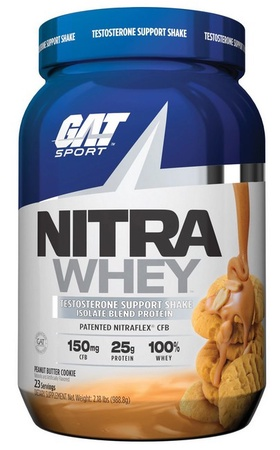 GAT Nitra Whey Protein Isolate Blend Peanut Butter Cookie - 25 Servings