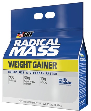 GAT Radical Mass Vanilla - 10 Lb