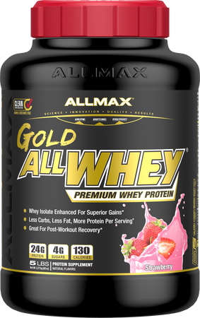 AllMax Nutrition AllWhey Gold Strawberry - 5 Lb