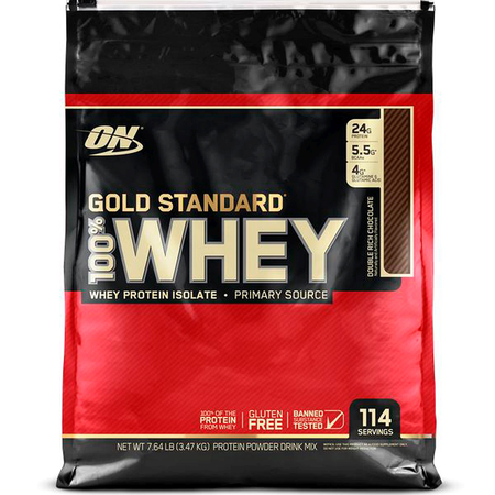 -Optimum Nutrition 100% Whey Gold Standard Chocolate (Dbl Rich Choc) - 7.64 Lb ($65.99 w/coupon DPS10)