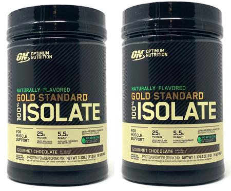 -Optimum Nutrition Gold Standard 100% Isolate Gourmet Chocolate TWINPACK - 2.26 Lb (32 Servings 2 x 1.13 Lb Btls  ($24.99 w/coupon code DPS10)
