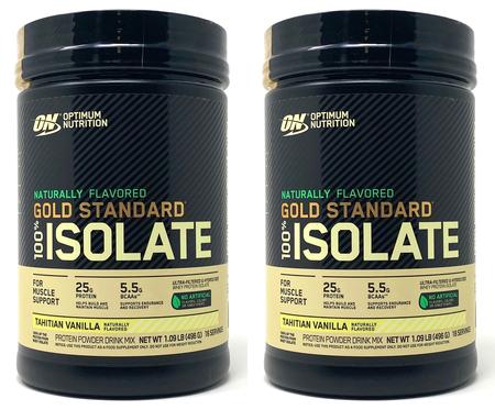 Optimum Nutrition Gold Standard 100% Isolate Tahitian Vanilla TWINPACK - 2.18 Lb (32 Servings) 2 x 1.09 Lb Btls   ($24.99 w/coupon code DPS10)