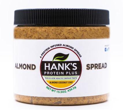 Hank's Protein Plus Almond Butter Protein Spread  Almond Coconut Chip - 15.5 oz