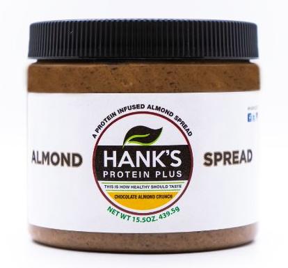 Hank's Protein Plus Almond Butter Protein Spread  Chocolate Almond Crunch - 15.5 oz