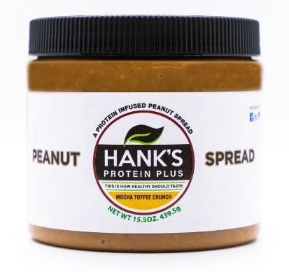 Hank's Protein Plus Peanut Spread  Mocha Toffee Crunch - 15.5 oz