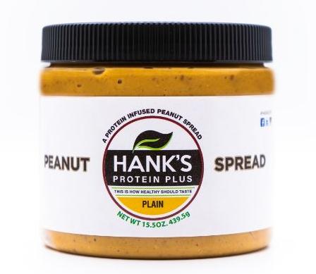 Hank's Protein Plus Peanut Spread  Plain - 15.5 oz  *SALE