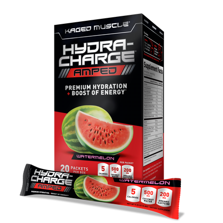 Kaged Muscle Hydra-Charge Amped  Watermelon - 20 Packs