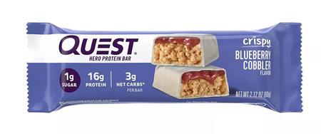 Quest Hero Bar Blueberry Cobbler - 12 Bars