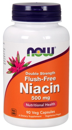 Now Foods Niacin - Flush-Free Niacin 500 Mg - 90 VCap