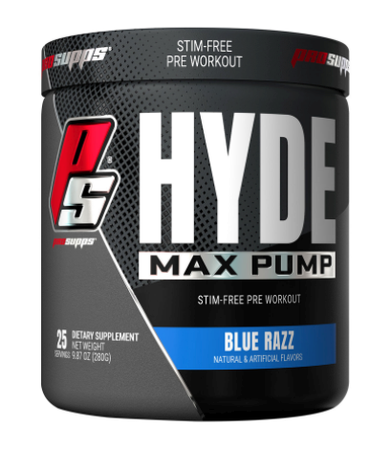 Pro Supps HYDE Max Pump Stim-Free Pre-Workout  Blue Razz - 25 Servings