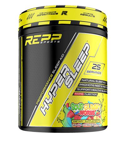 REPP Sports Hyper Sleep  Sour Gummy Worms - 25 Servings