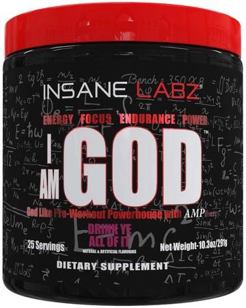 Insane Labz I am God  Fruit Punch - 25 Servings