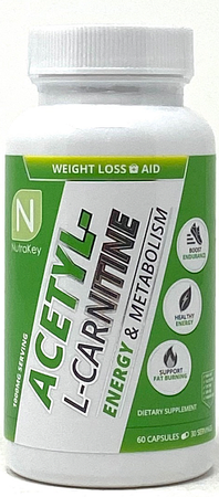 Nutrakey Acetyl L-Carnitine 500 Mg - 60 Capsules