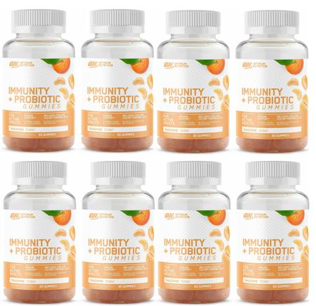 Optimum Nutrition Immunity + Probiotic Gummies  Tangerine - 8 x 60 Gummies