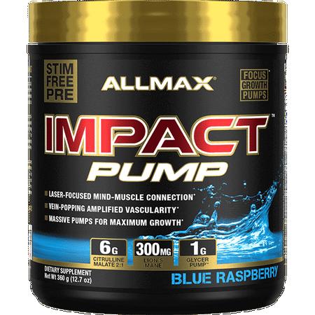 Allmax Nutrition Impact Pump Blue Raspberry - 30 Servings