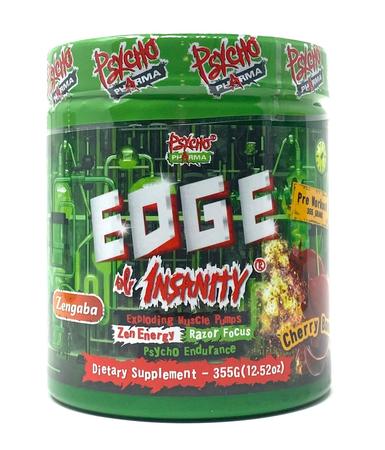 Psycho Pharma Edge of Insanity Pre Workout  Cherry Bomb - 25 Servings *New formula