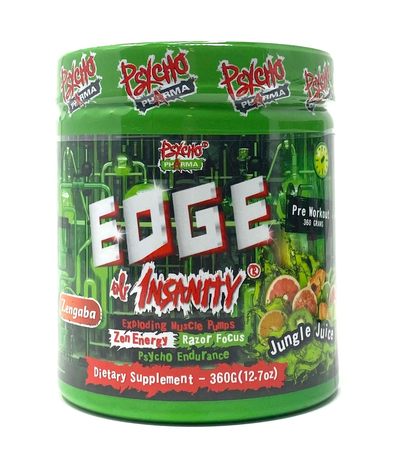 Psycho Pharma Edge of Insanity Pre Workout  Jungle Juice - 25 Servings *New formula
