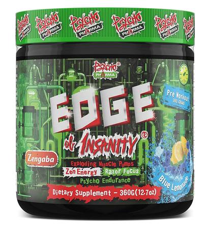 Psycho Pharma Edge of Insanity Pre Workout  Blue Lemonade - 25 Servings *New formula