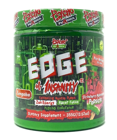 Psycho Pharma Edge of Insanity Pre Workout  Strawberry Watermelon Popsicle - 25 Servings *New formula