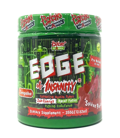 Psycho Pharma Edge of Insanity Pre Workout  Spiked Punch - 25 Servings *New formula