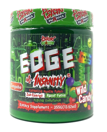 Psycho Pharma Edge of Insanity Pre Workout  Wild Candy - 25 Servings *New Formula