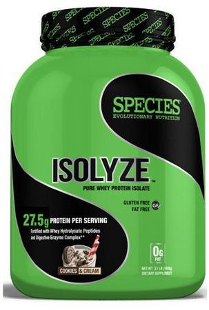 Species Nutrition Isolyze Cookies & Cream - 44 Servings