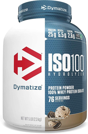 Dymatize ISO 100 Whey Protein Isolate  Cookies & Cream - 5 Lb  (76 Servings)