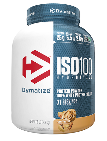 Dymatize ISO 100 Whey Protein Isolate  Peanut Butter - 5 Lb (71 Servings)