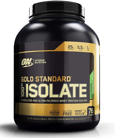 -Optimum Nutrition Gold Standard 100% Isolate Mint Brownie - 5.19 Lb (76 Servings) $47.99 w/DPS10 code