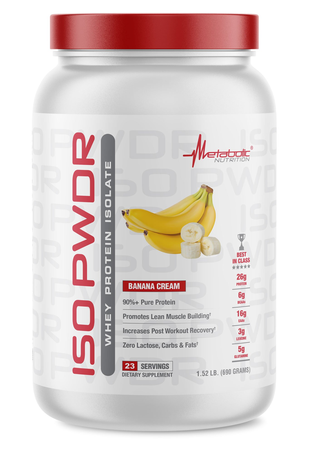 Metabolic Nutrition ISO PWDR Banana Cream - 23 Servings