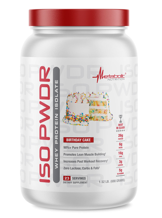 Metabolic Nutrition ISO PWDR Birthday Cake - 23 Servings